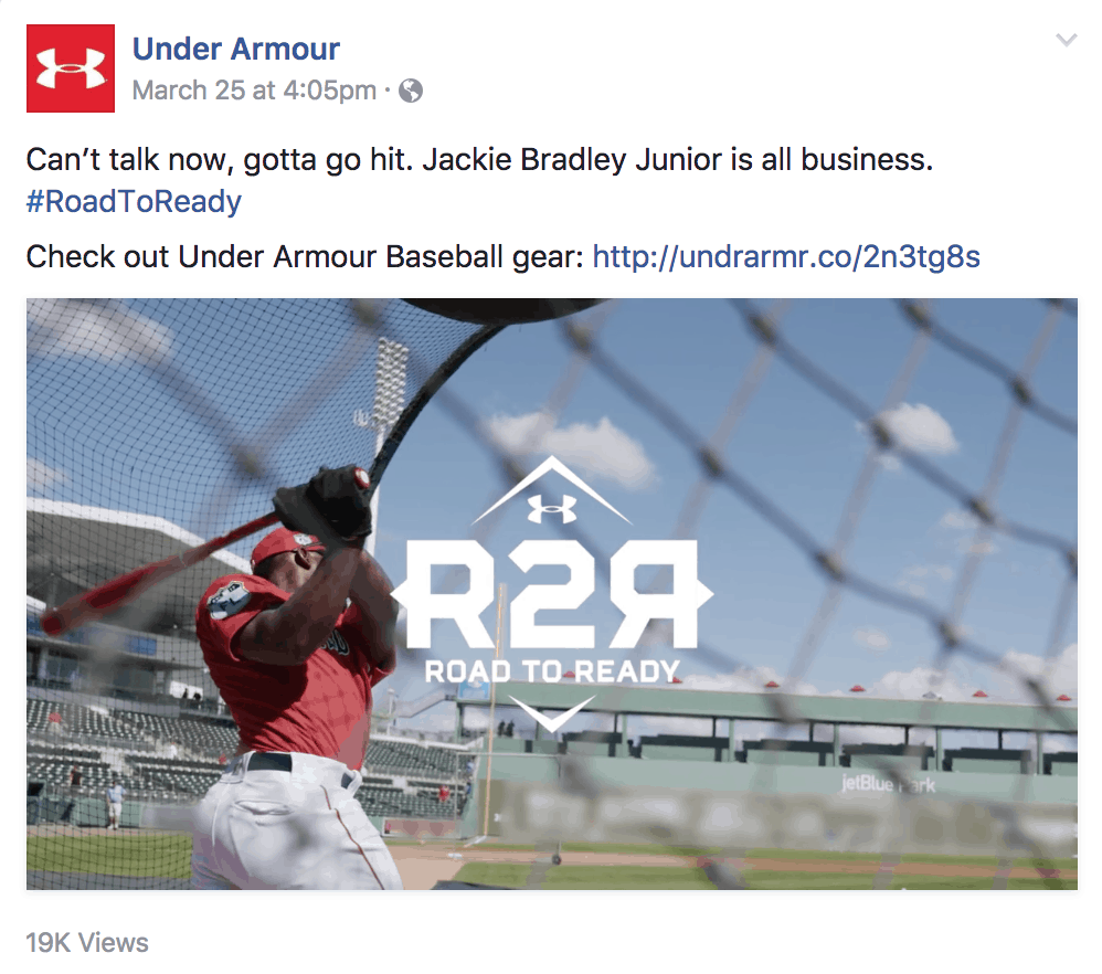 under armour's call to action