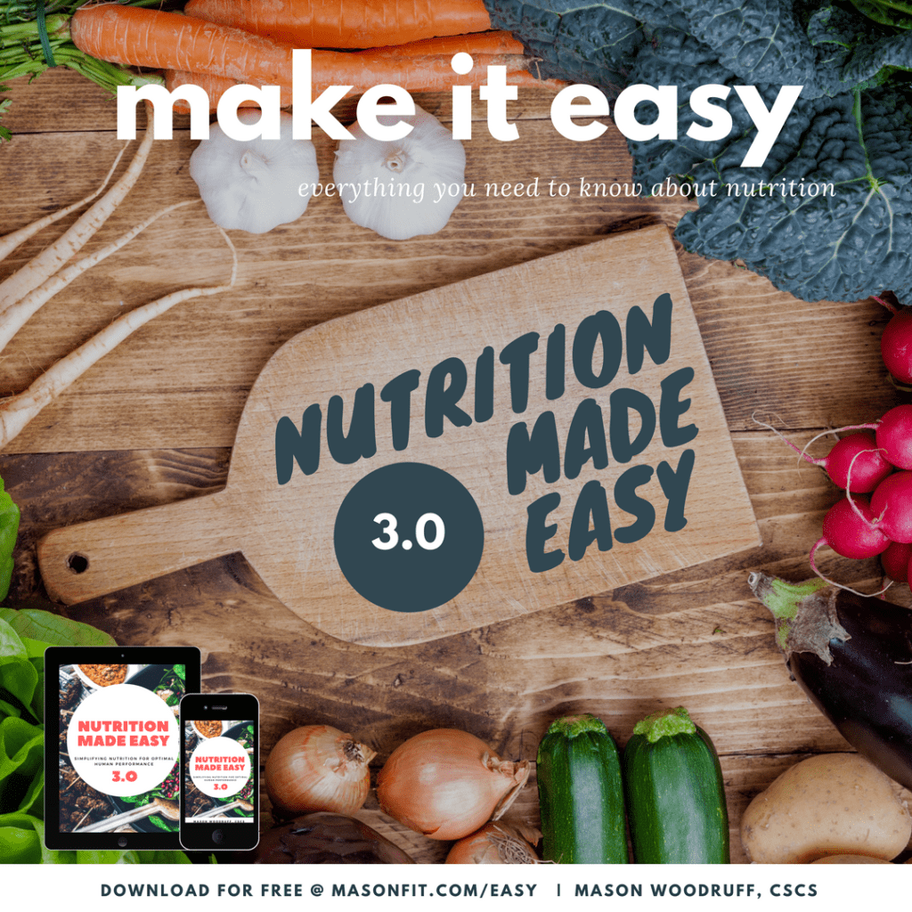 nutrition made easy mason woodruff