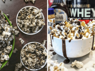 high-protein snacks and recipe for protein popcorn