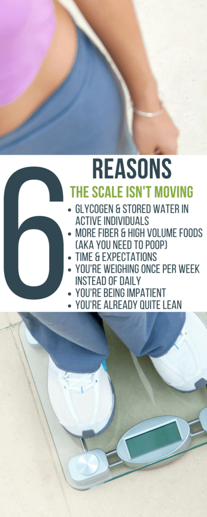 A handful of reasons why the scale may not move at first when starting a new fitness and nutrition regimen.