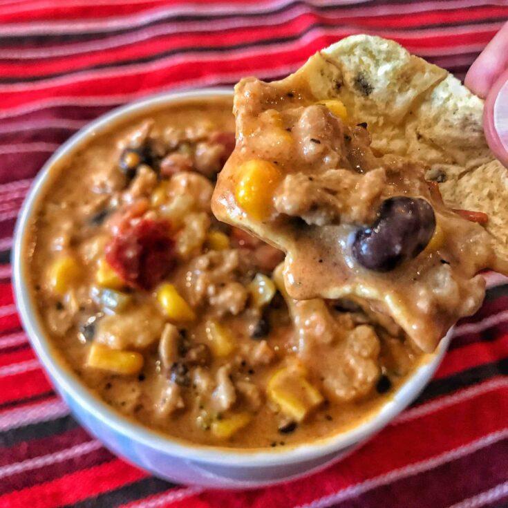 High Protein Creamy Taco Soup