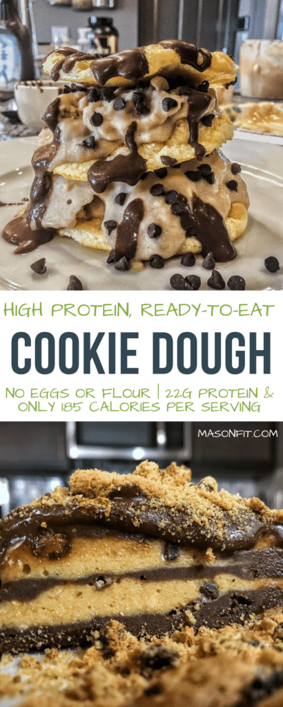 Easy to make cookie dough that's ready to eat right away and packs 22 grams of protein into 185 calories per serving. You'll love this stuff!