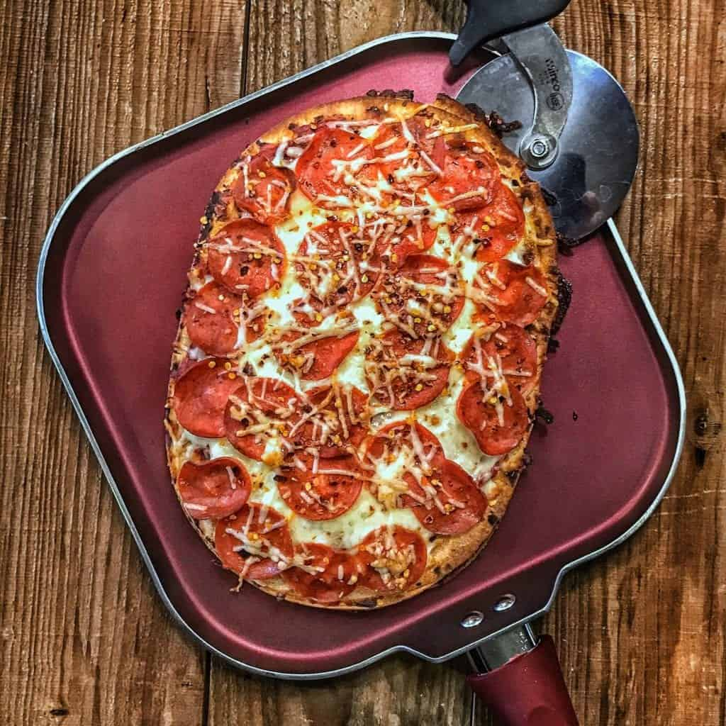 high protein pizza recipe high protein double decker pizza