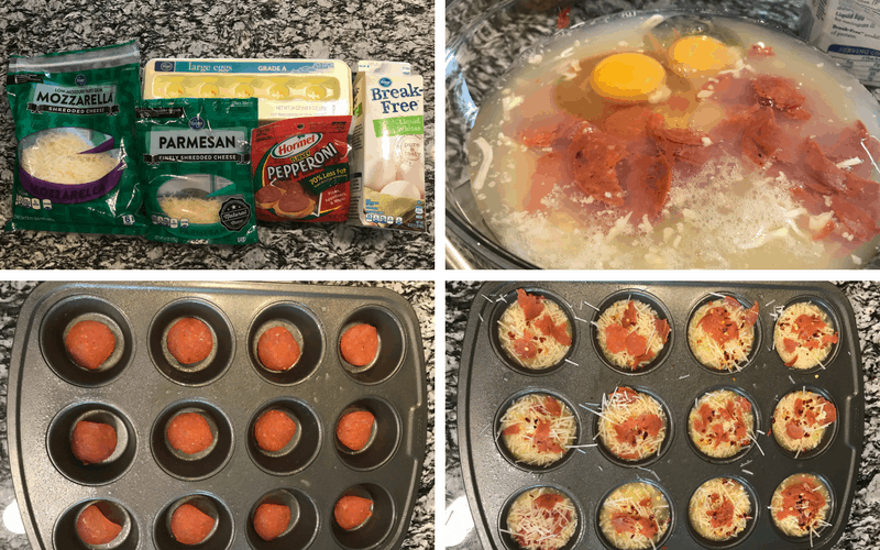 low carb pizza cups ingredients