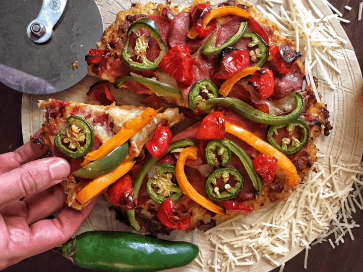how to make low-carb pizza