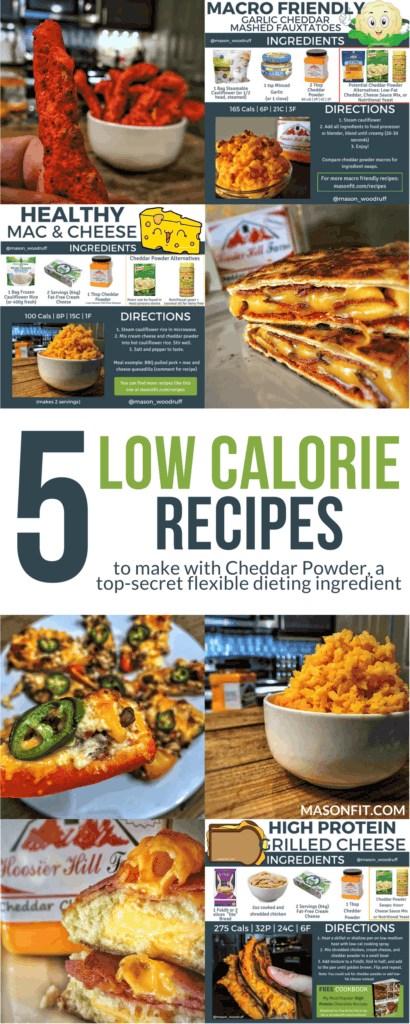 How cheddar powder can change your mind about how delicious low calorie recipes can be!