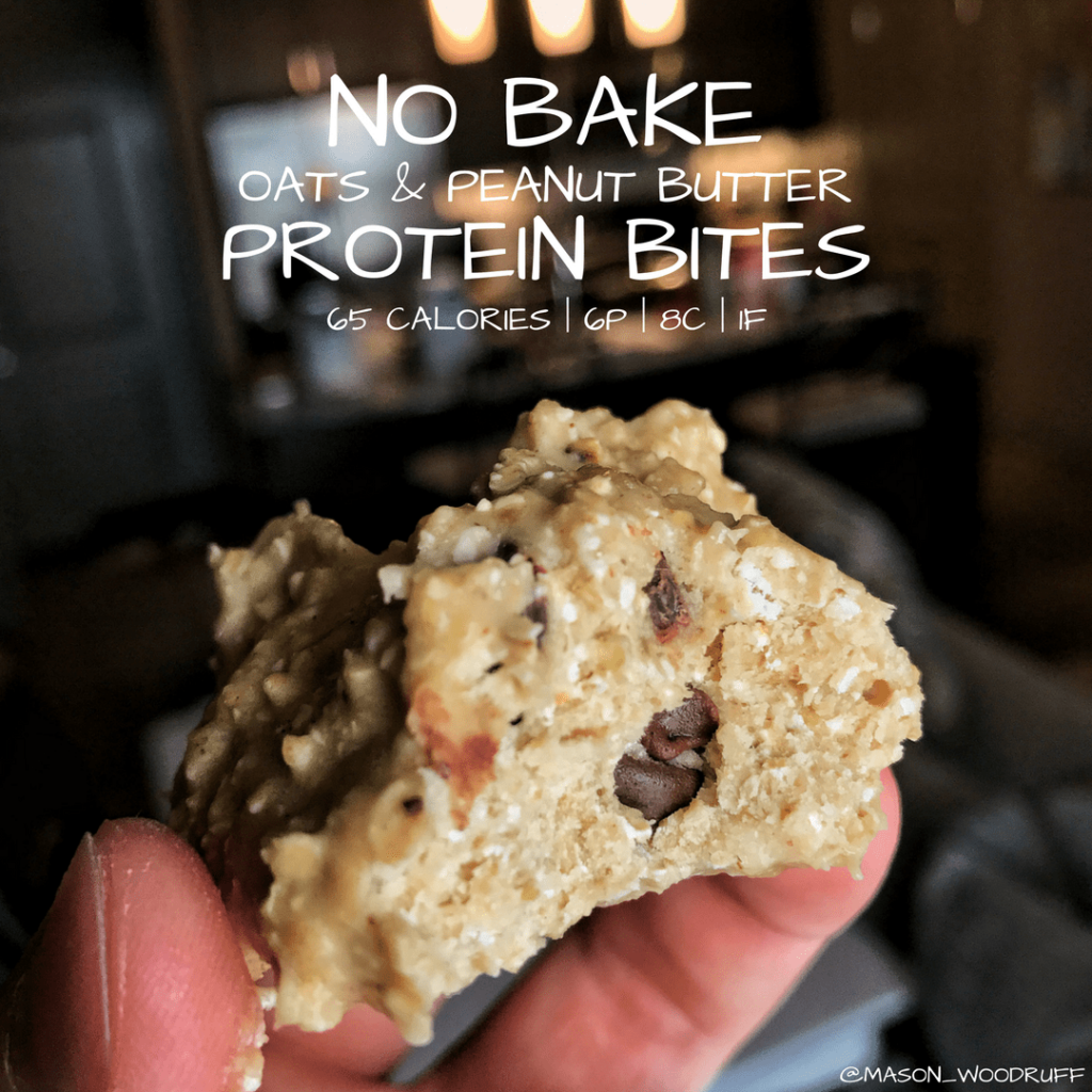 no bake oats and peanut butter protein bites