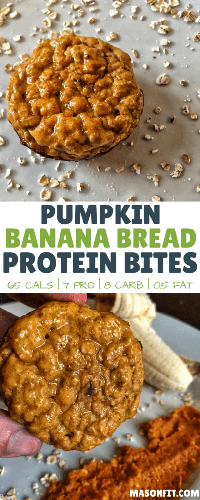 This healthy take on banana bread muffins delivers 7 grams of protein with only 65 calories per muffin!