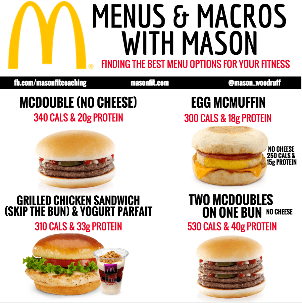 healthy options at mcdonald's