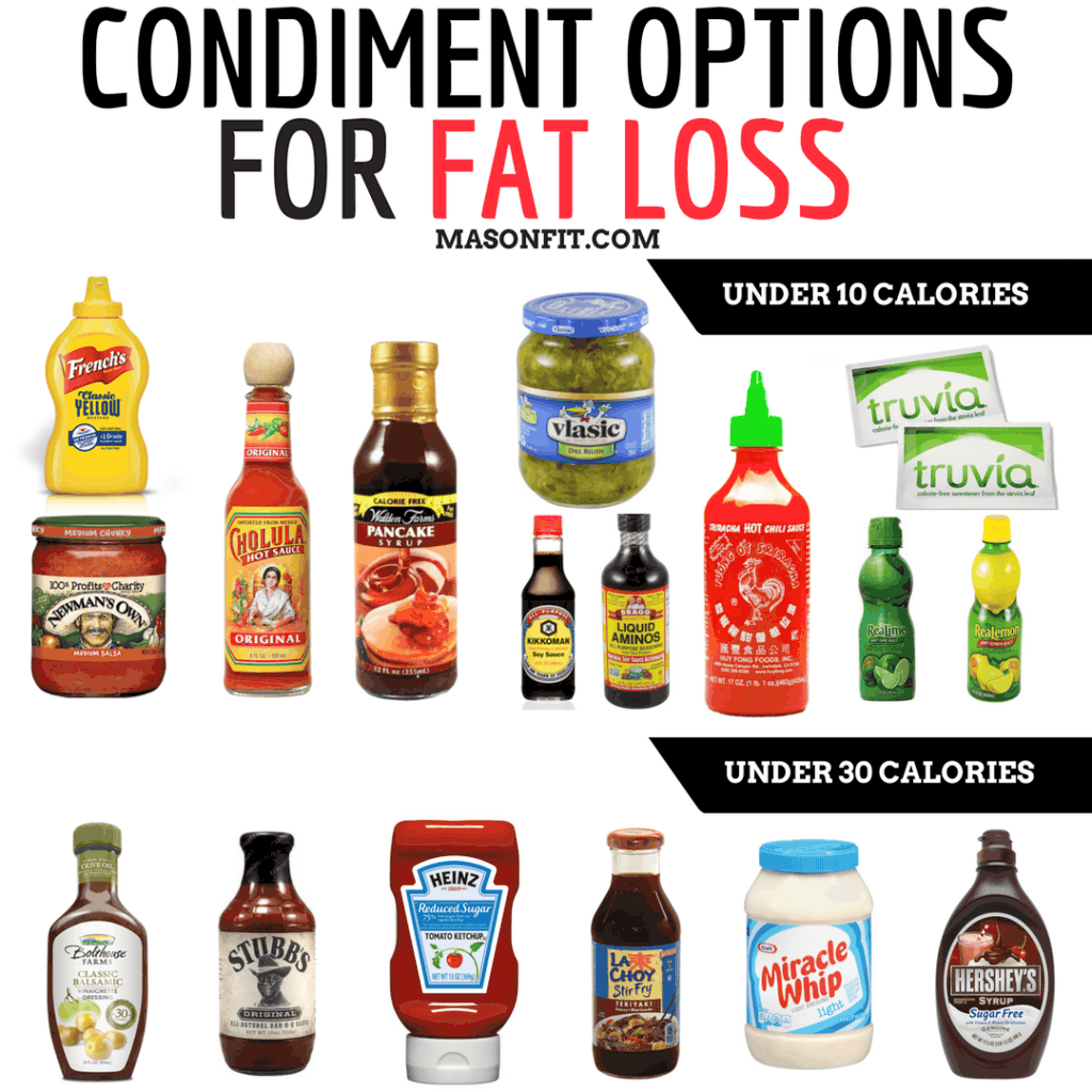 low calorie condiments