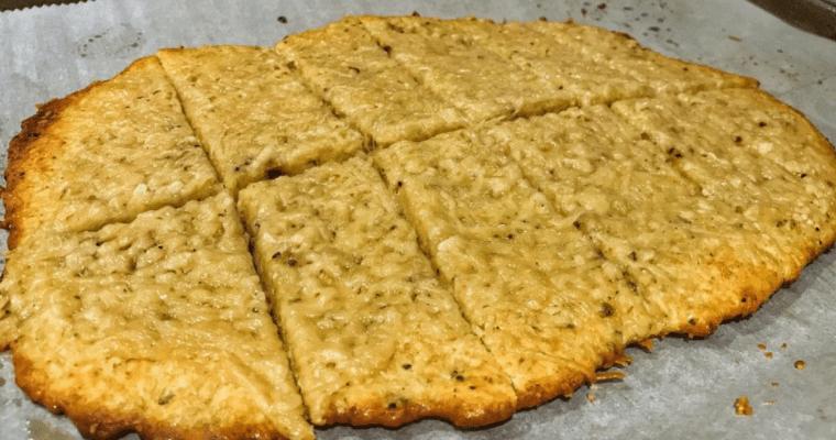 Lower Calorie, High Protein Cheesy Garlic Bread Recipe