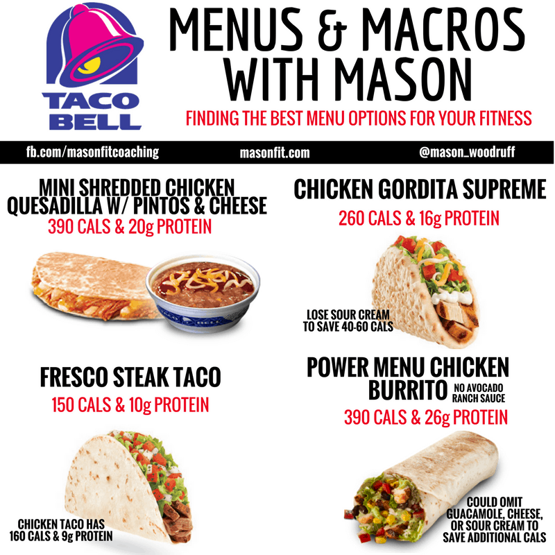 healthy options at taco bell