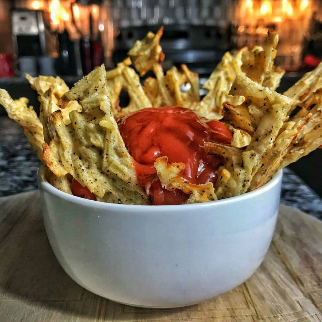 high protein garlic parmesan fries