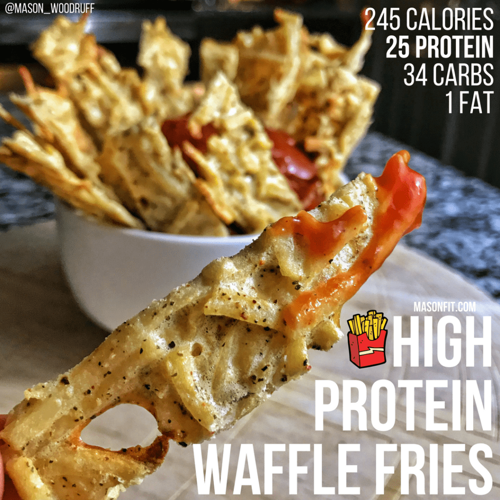 high protein waffle fries recipe
