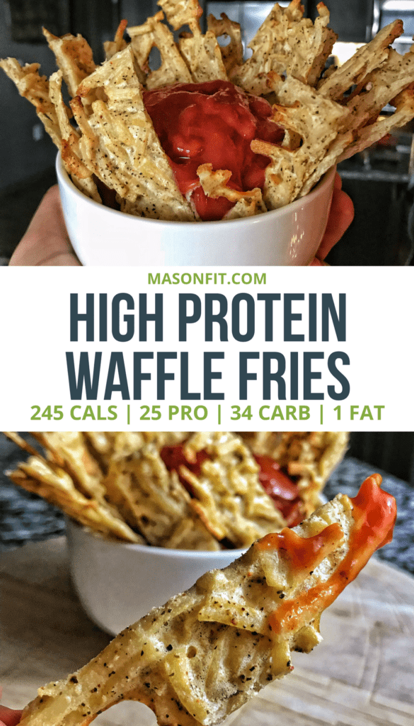 A high protein, lower calorie alternative to waffle fries. Never get stuck without Chick Fil A on Sunday again! #flexibledietingrecipes #iifym #macrofriendly