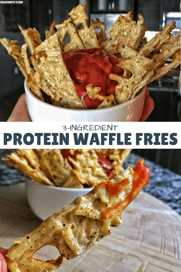 A high protein waffle fries recipe that has 25 grams of protein with only 1 gram of fat and 245 calories for an entire baking sheet of french fries!