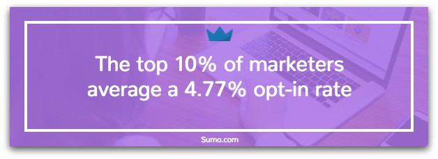 what is the average email opt-in rate?