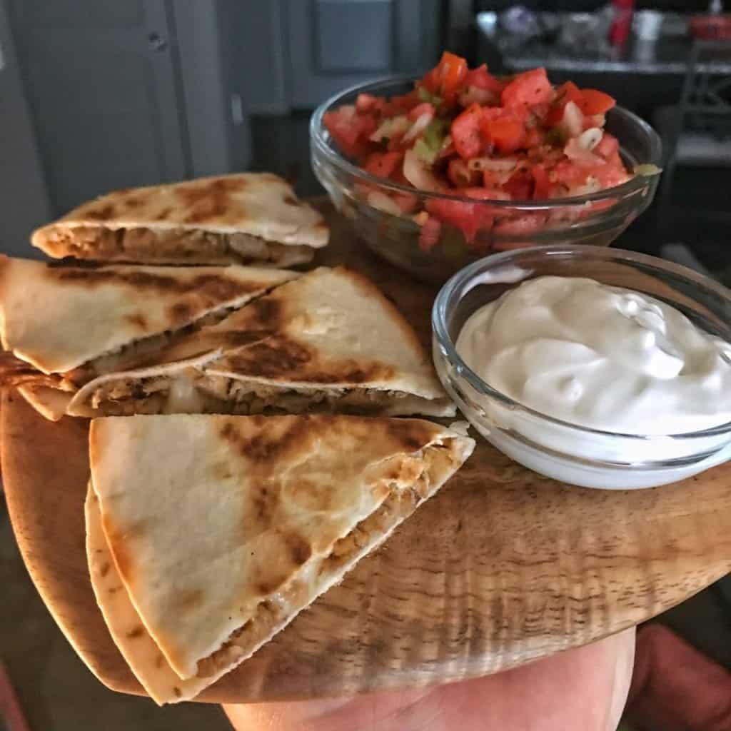 high protein crispy carnitas quesadilla recipe