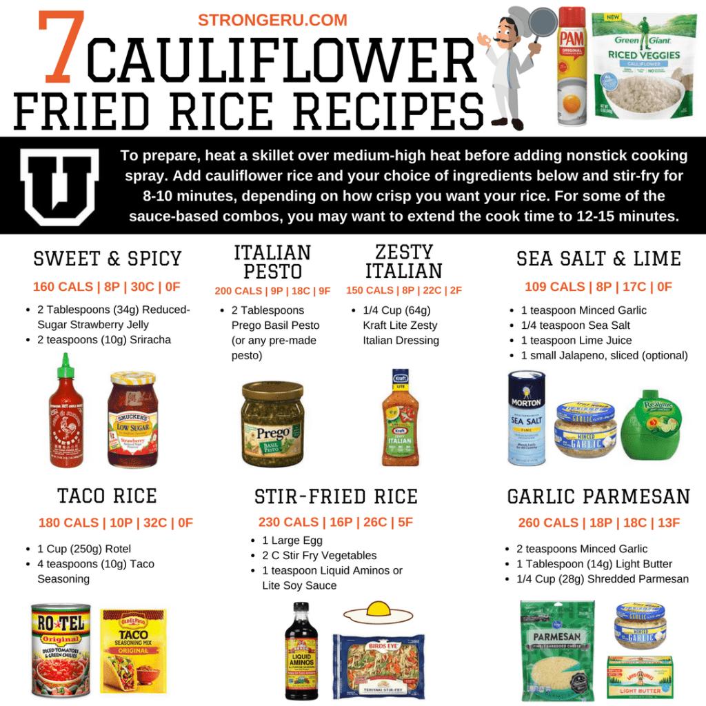 cauliflower fried rice recipes