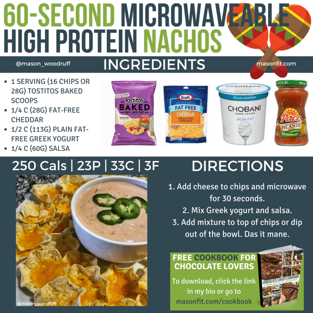 high protein microwaveable nachos recipe