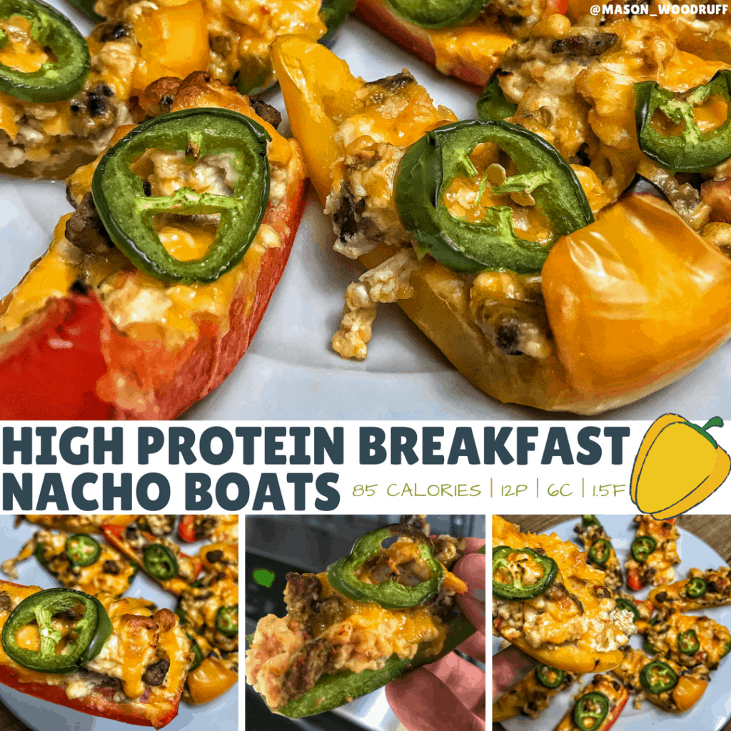 High Protein Breakfast Nacho Boats Recipe