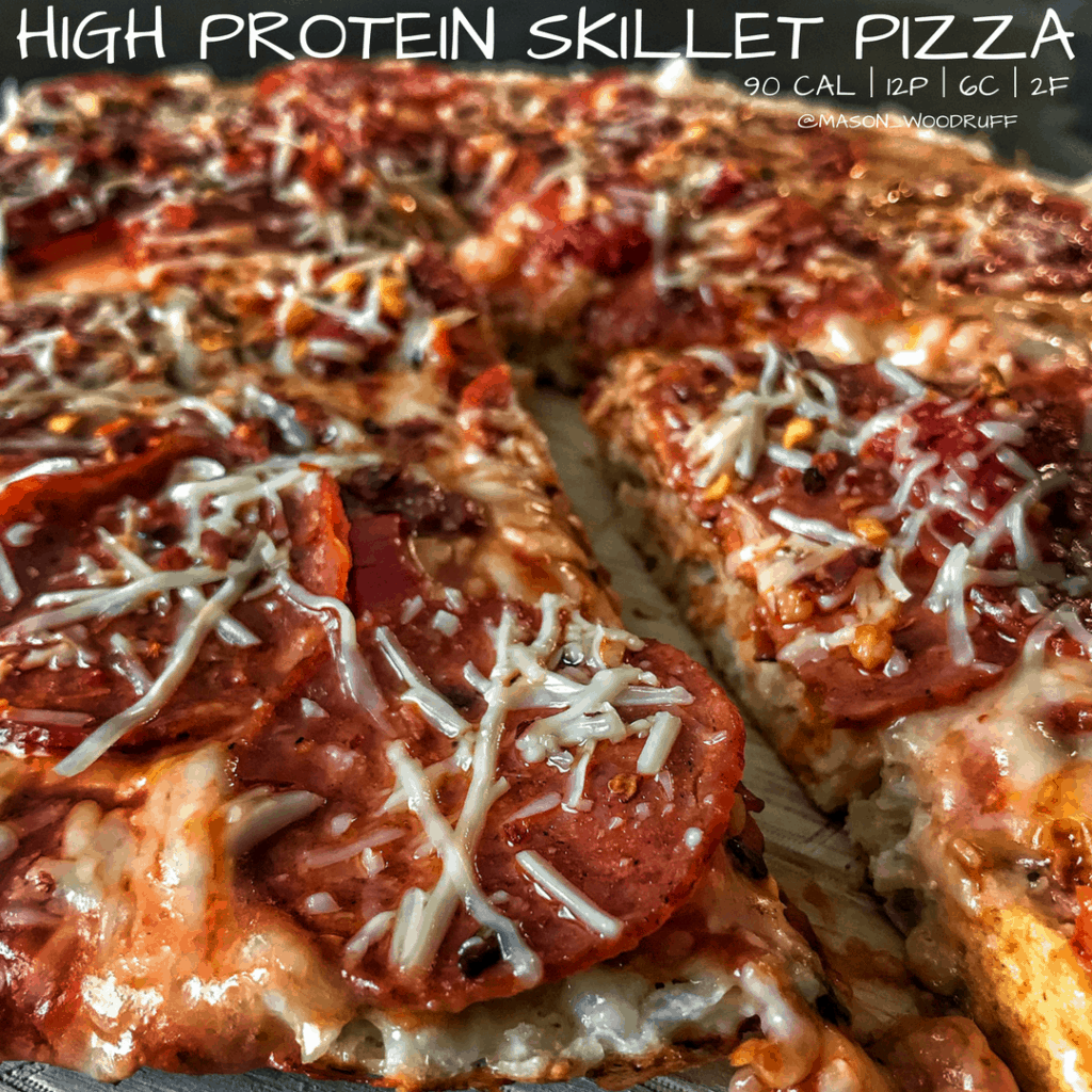 High Protein Stovetop Skillet Pizza