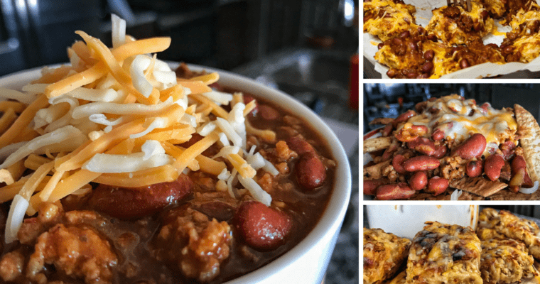 5-Ingredient Instant Pot Chili with Healthier Frito Chili Pie and Chili Cheese Tots Recipes