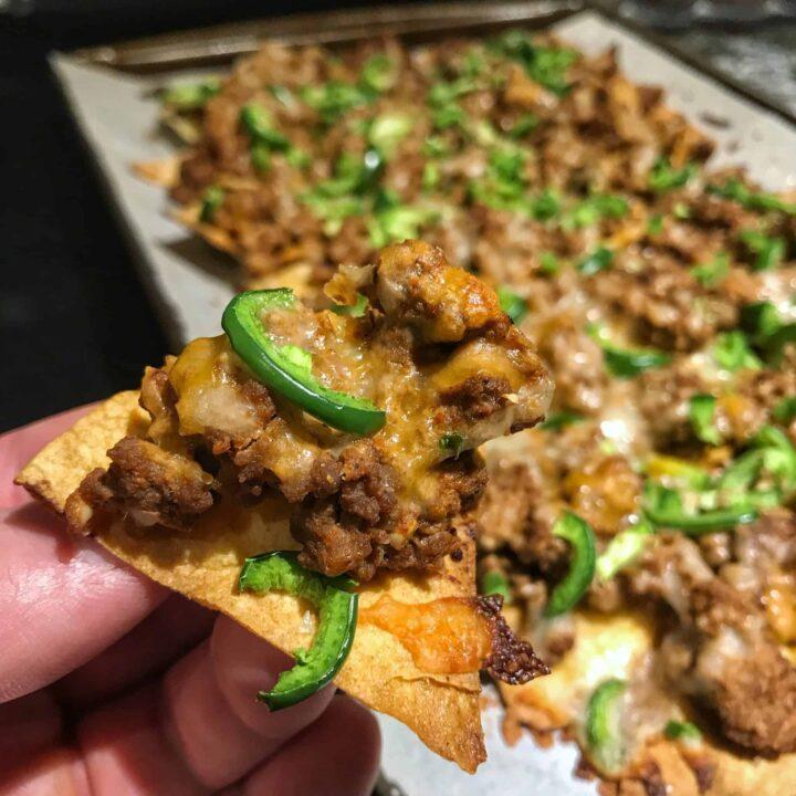 high protein sloppy joe nachos recipe