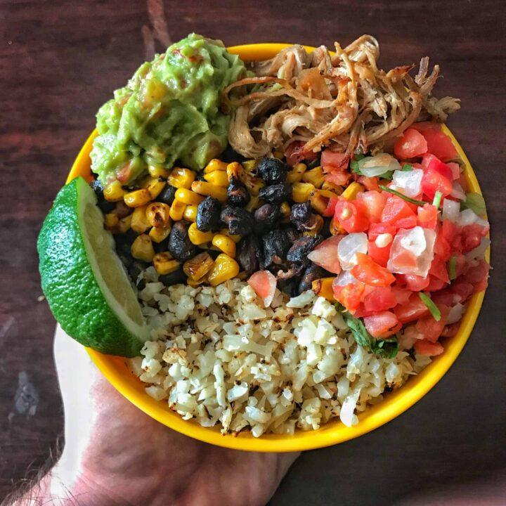 instant pot carnitas burrito bowls