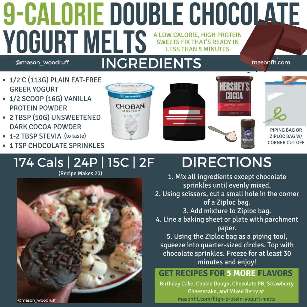 double chocolate homemade yogurt melts recipe