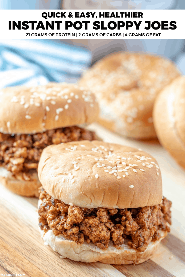 A simple, healthy Instant Pot sloppy joes recipe with a high protein, low calorie twist. You'll love the sweet and spicy flavor combinations of these healthy sloppy joes!