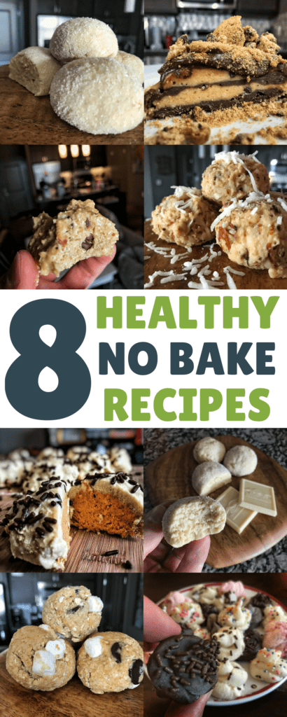 Save time and energy with these 8 healthy no bake recipes that have a ton of protein and will satisfy any sweet tooth or snacks craving. Nearly all of the recipes are ready in less than 10 minutes and have around 100 calories per serving.