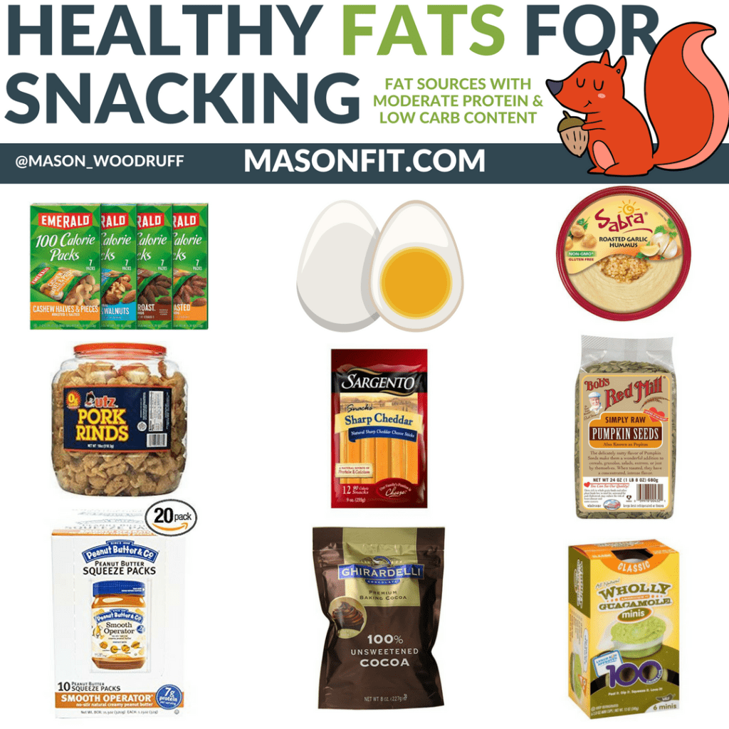 healthy snacks and healthy fats for snacking