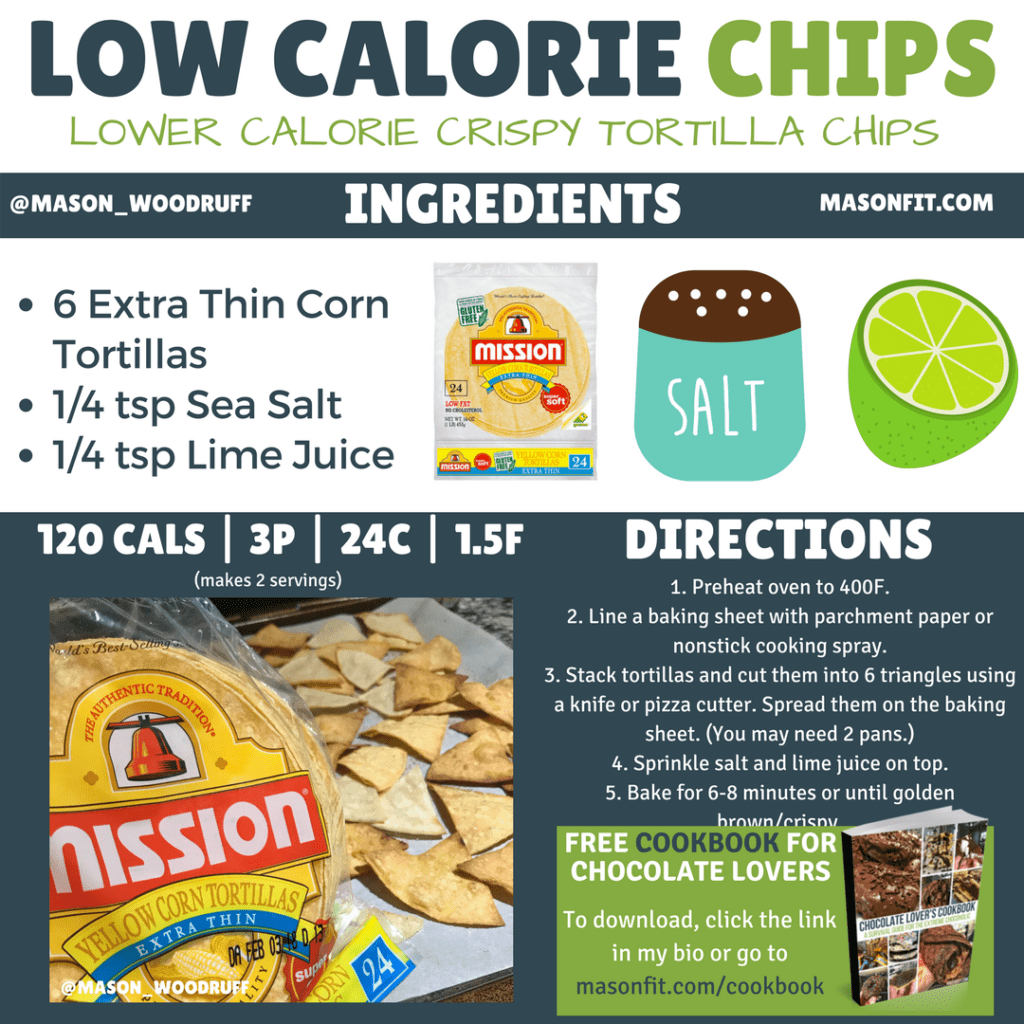 how to make low calorie tortilla chips