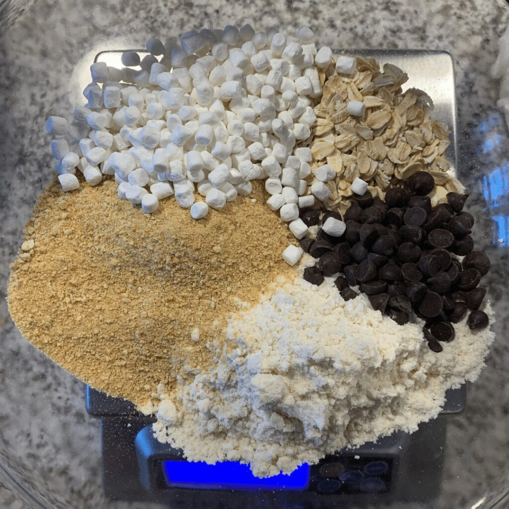 dry ingredients for s'mores protein bites