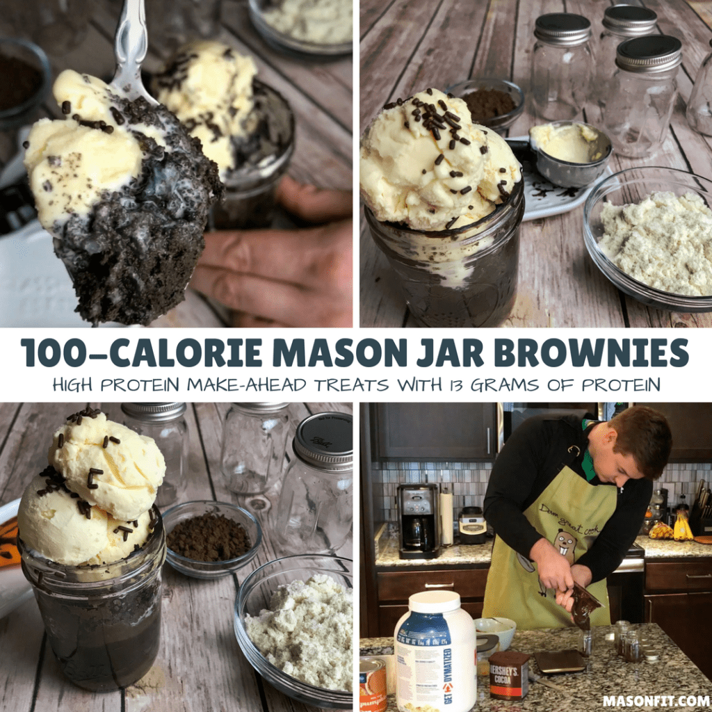 Make-Ahead Protein Brownies_ 100-Calorie Mason Jar Brownies