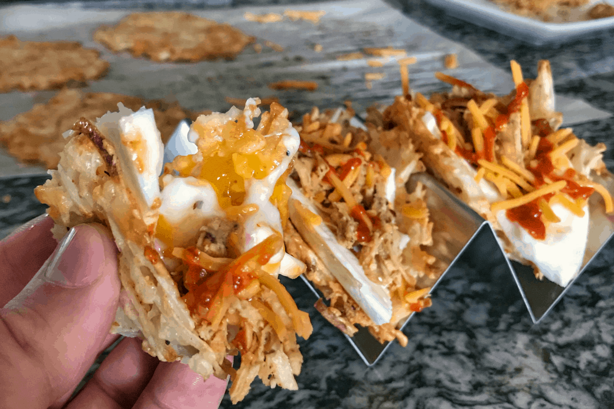 3-Ingredient Hash Brown Taco Shells: Healthy Breakfast Tacos