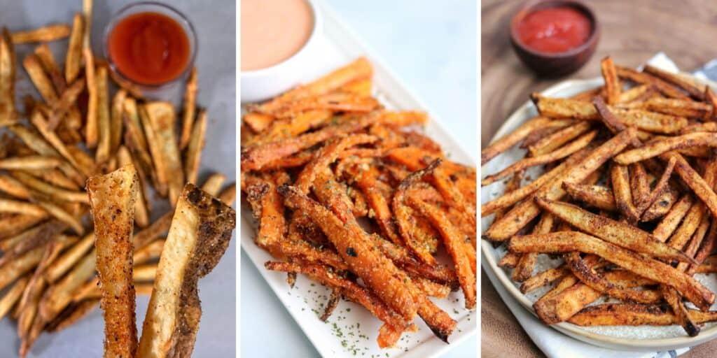 Wingstop fries, carrot fries, and cajun fries