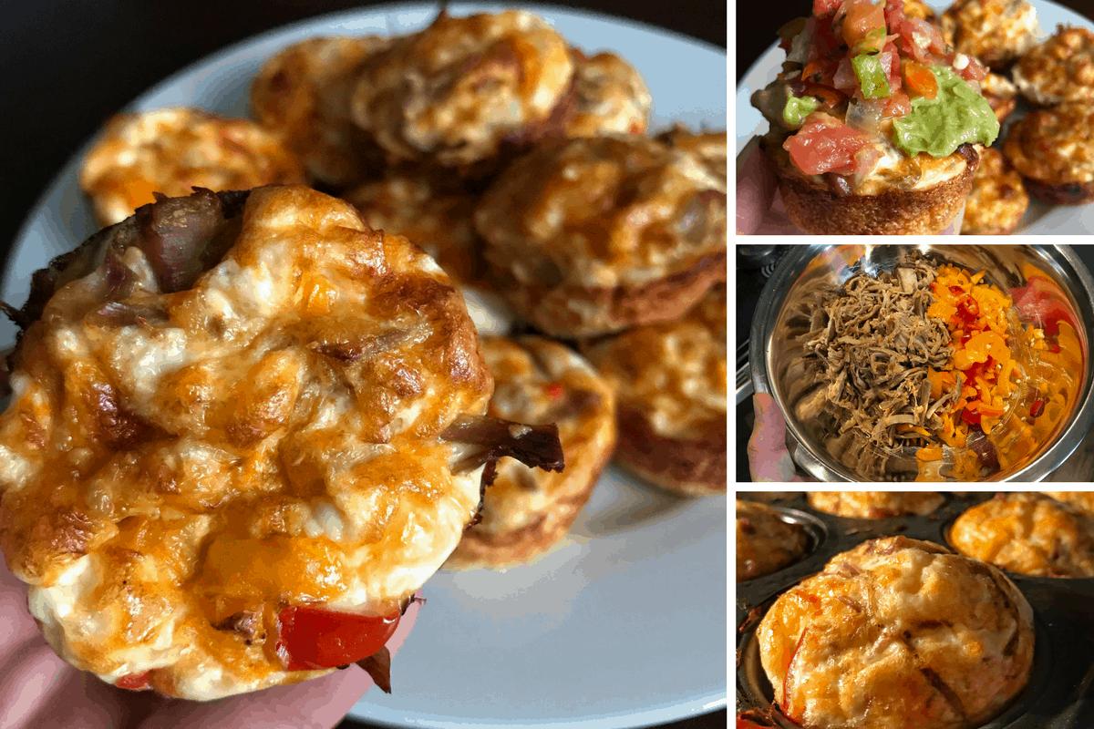 Low Carb, 71-Calorie Crispy Carnitas Breakfast Muffins