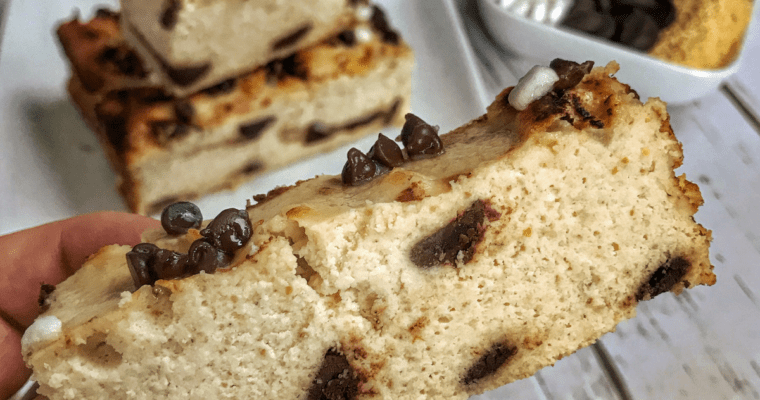 Low Calorie S'mores Cake Bars Recipe with Chocolate Protein Frosting