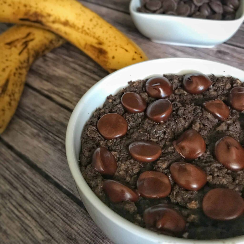 double chocolate high protein banana bread