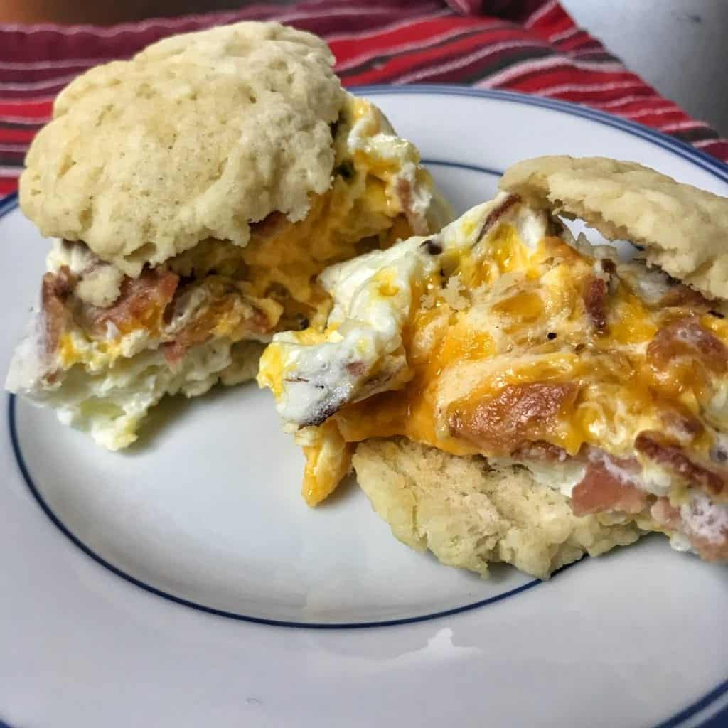 low carb bacon, egg, and cheese biscuit recipe