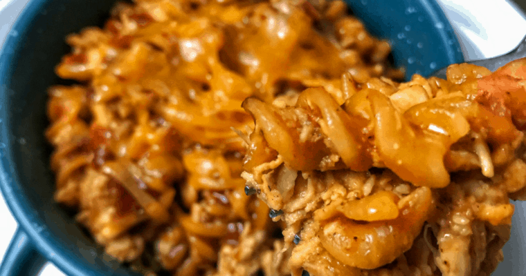 Healthy BBQ Chicken Pasta Bake: A 4-Ingredient Microwaveable Recipe