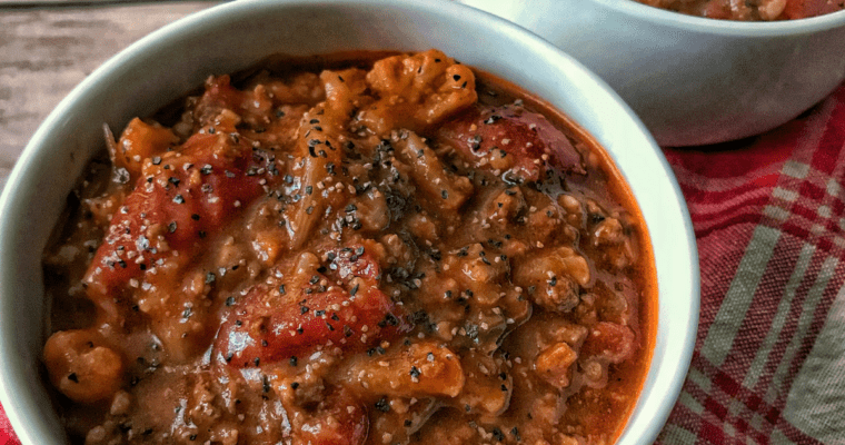 High Protein Soup: Super Easy Beefy Tomato Soup