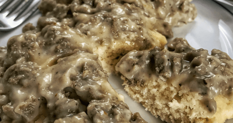 Healthy Biscuits and Gravy Recipe: Simple High Protein Sausage Gravy