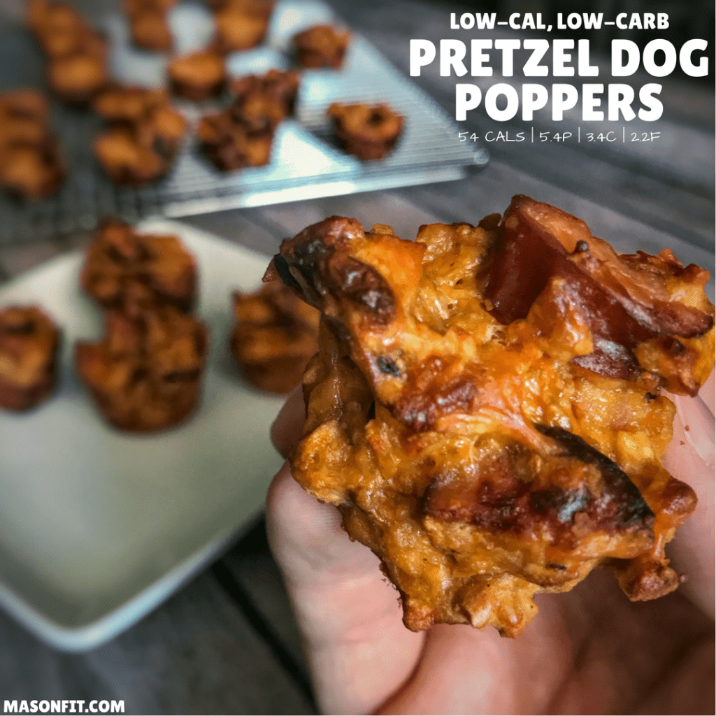 Healthy Pretzel Dog Bites: Low Calorie, High Protein, And