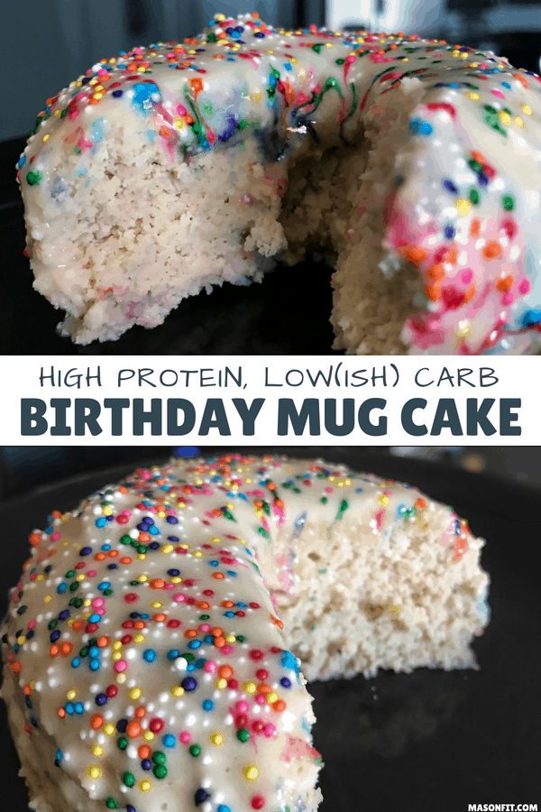 Microwavable High Protein Birthday Cake Healthy Mug Cake Recipe