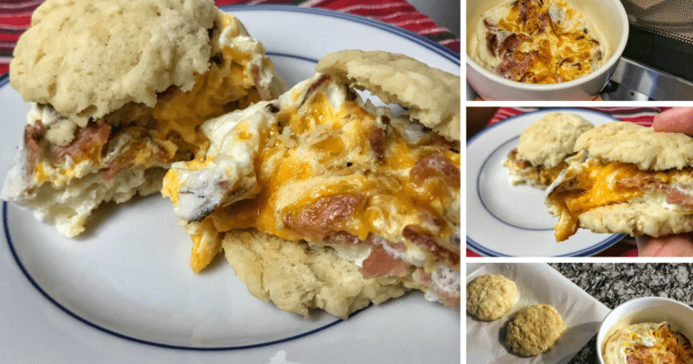 Microwavable Low Carb Bacon, Egg, and Cheese Biscuit Recipe