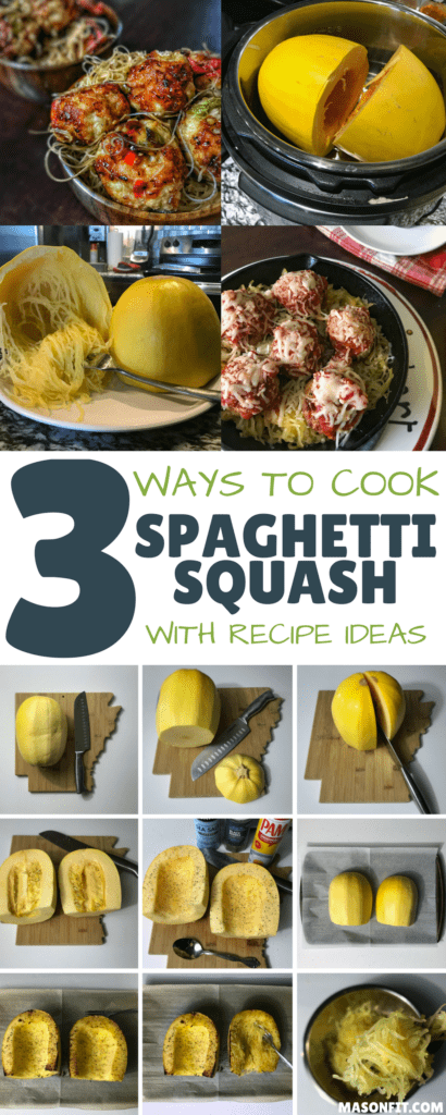 There are a ton of ways to cook spaghetti squash, but this quick guide looks at three of the easiest methods and the pros and cons of each. You'll also find two high protein, low calorie spaghetti squash recipes.