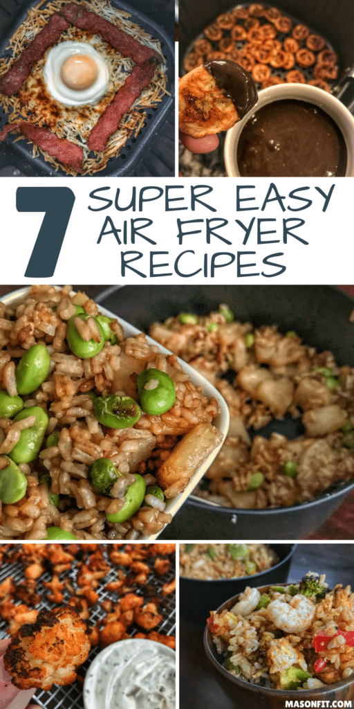 Some of the easiest air fryer recipes you'll find with an eye towards keeping things higher in protein and lower in calories. Most recipes on the list are ready in 10-15 minutes max and have ingredient lists you can count on one hand.